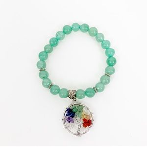 Tree of Life Bracelet Colored Stones Crystals